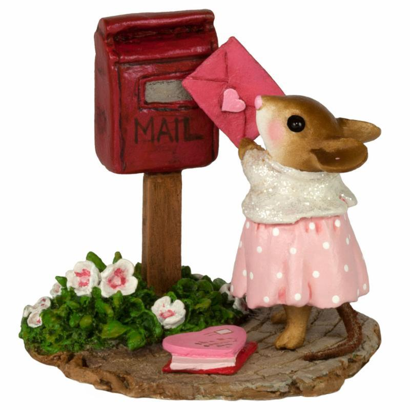 Mouse Sending a Valentines Day Letter