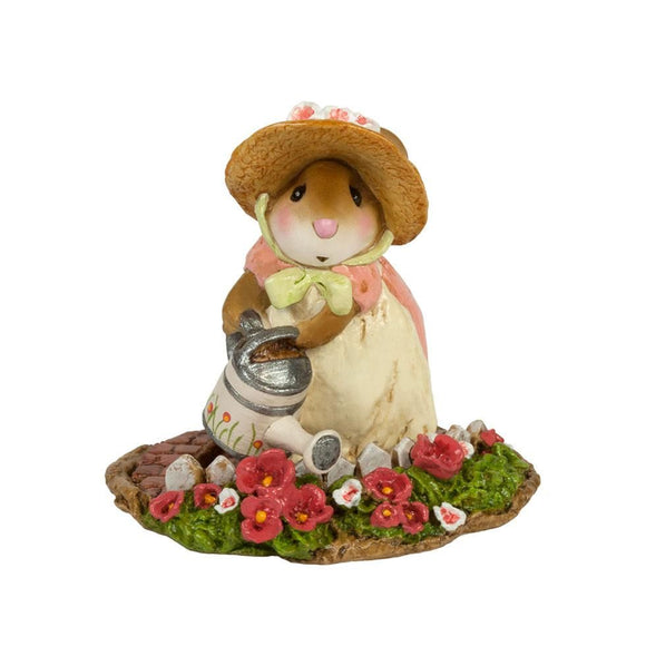 Mouse Watering Flowers