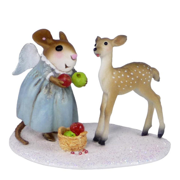 Angel Mouse Feeding a Fawn