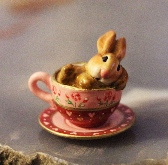 Highly Embellished Teacup Bunny (Cuppa Cottontail)