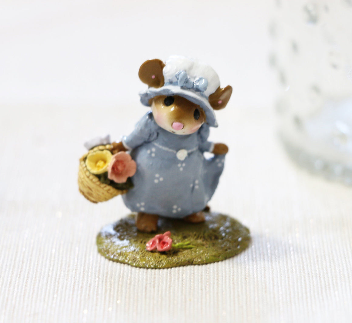 Mouse with a Basket of Flowers