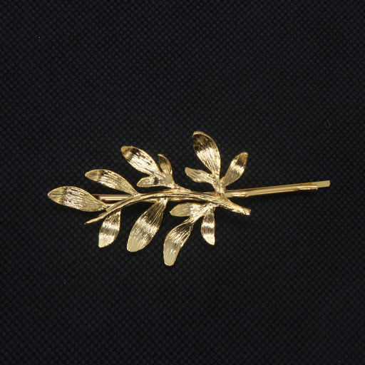 Leaves Gold Plated Hairpin