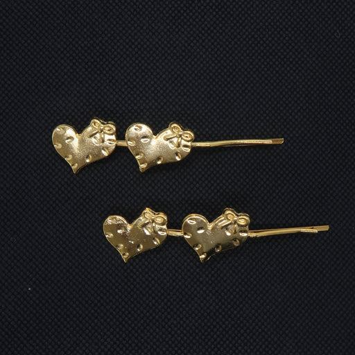 Hearts Gold Plated Hairpin