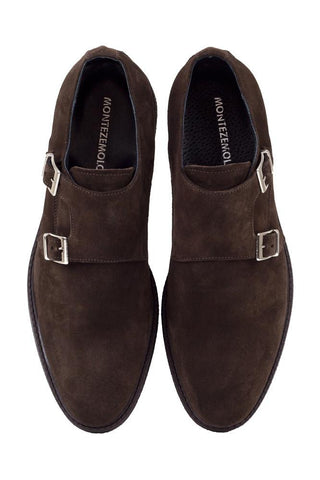 Suede Double Monk-Strap