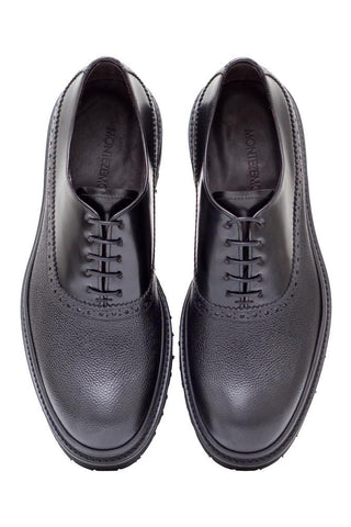 Two-Leather Oxford Shoes