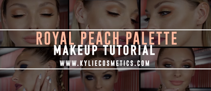 Kylie Cosmetics: Royal Peach Palette tutorial