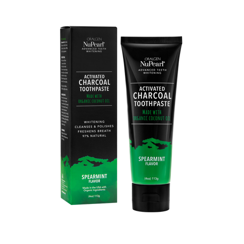 ORALGEN NuPearl Activated Charcoal Toothpaste (Spearmint) (4oz) 113g