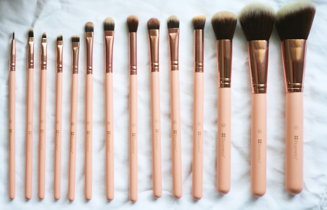Bh Chic 14 Piece Brush Set With Cosmetic Case