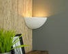 COR165 Corner Wall Light in White Plaster Finish