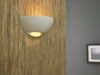AUR120 Aura Spill 1 Light Wall Light in White Plaster Finish