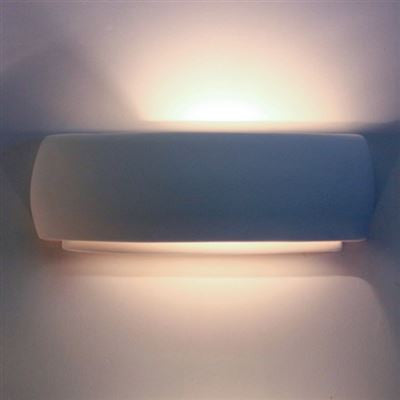 CR1110 Crescent 1 Step Wall Light in White Plaster Finish