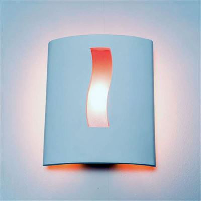 CAR235 Caracas Halo Wall Light in White Plaster Finish