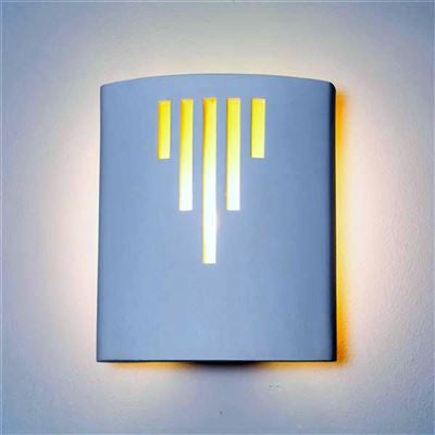 ACA235 Acapulco Halo Wall Light in White Plaster Finish