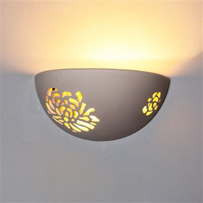 RUP120 Rupali Wall Light in White Plaster Finish