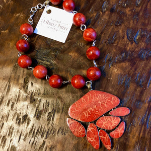 Sponge Coral Times Two Necklace