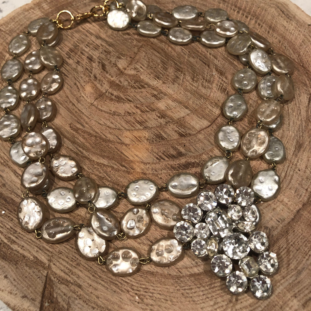 Rhinestones and Me Necklace