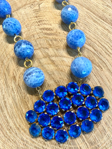 Blue on Blue Necklace