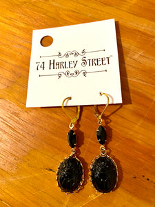 Black Scarab Earrings