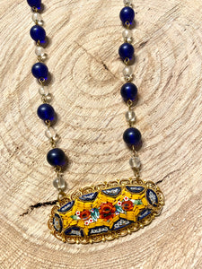 Blue Mosaics Necklace