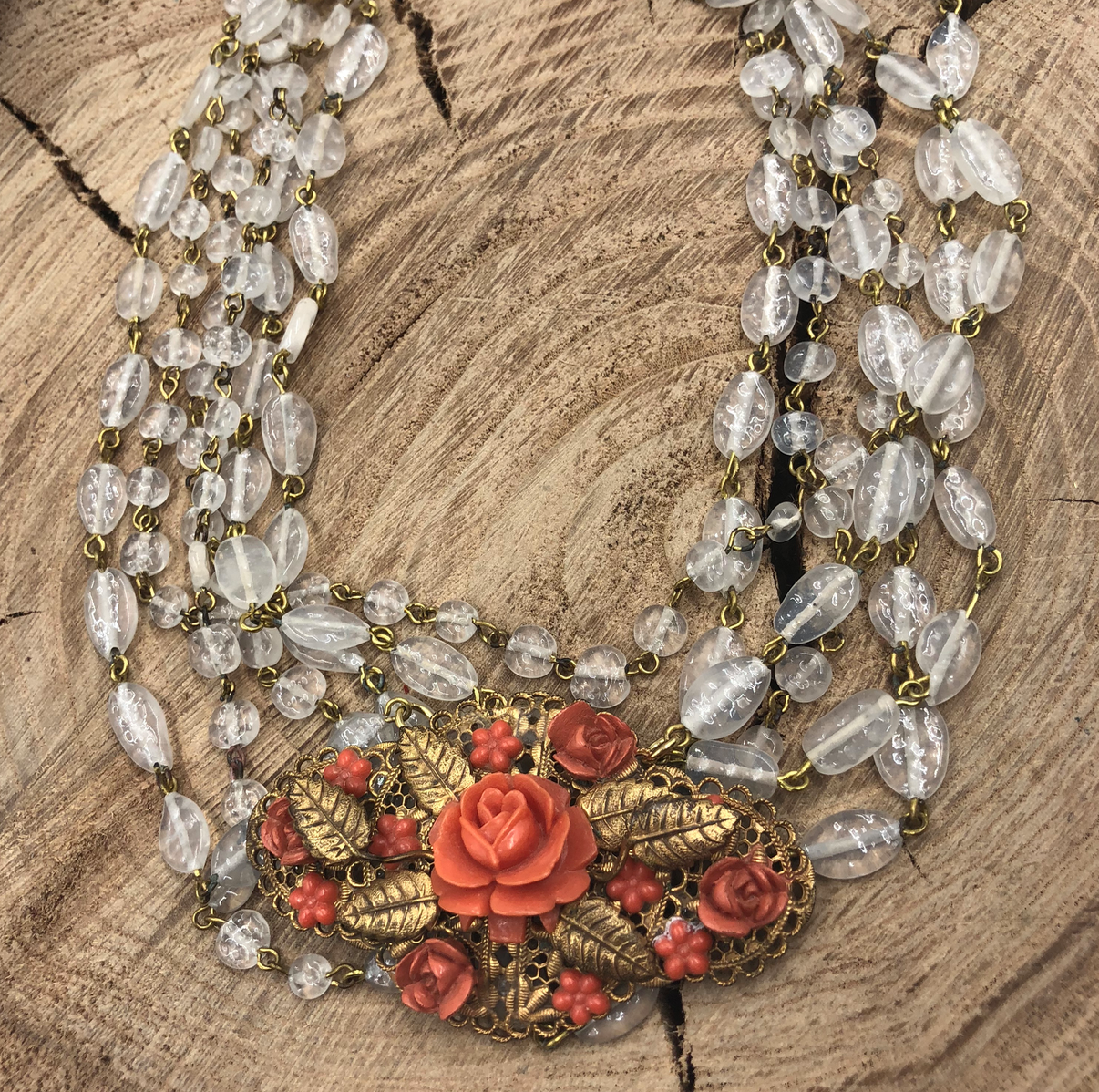 Wabi Sabi and Roses Necklace