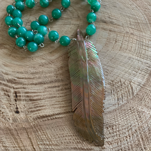 Shell Feather Fun Necklace