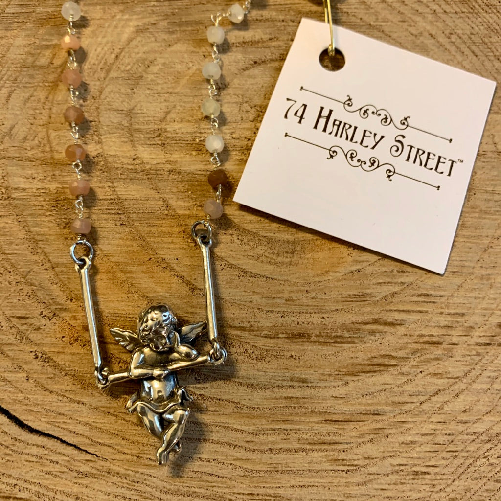 Swinging Cherub Necklace