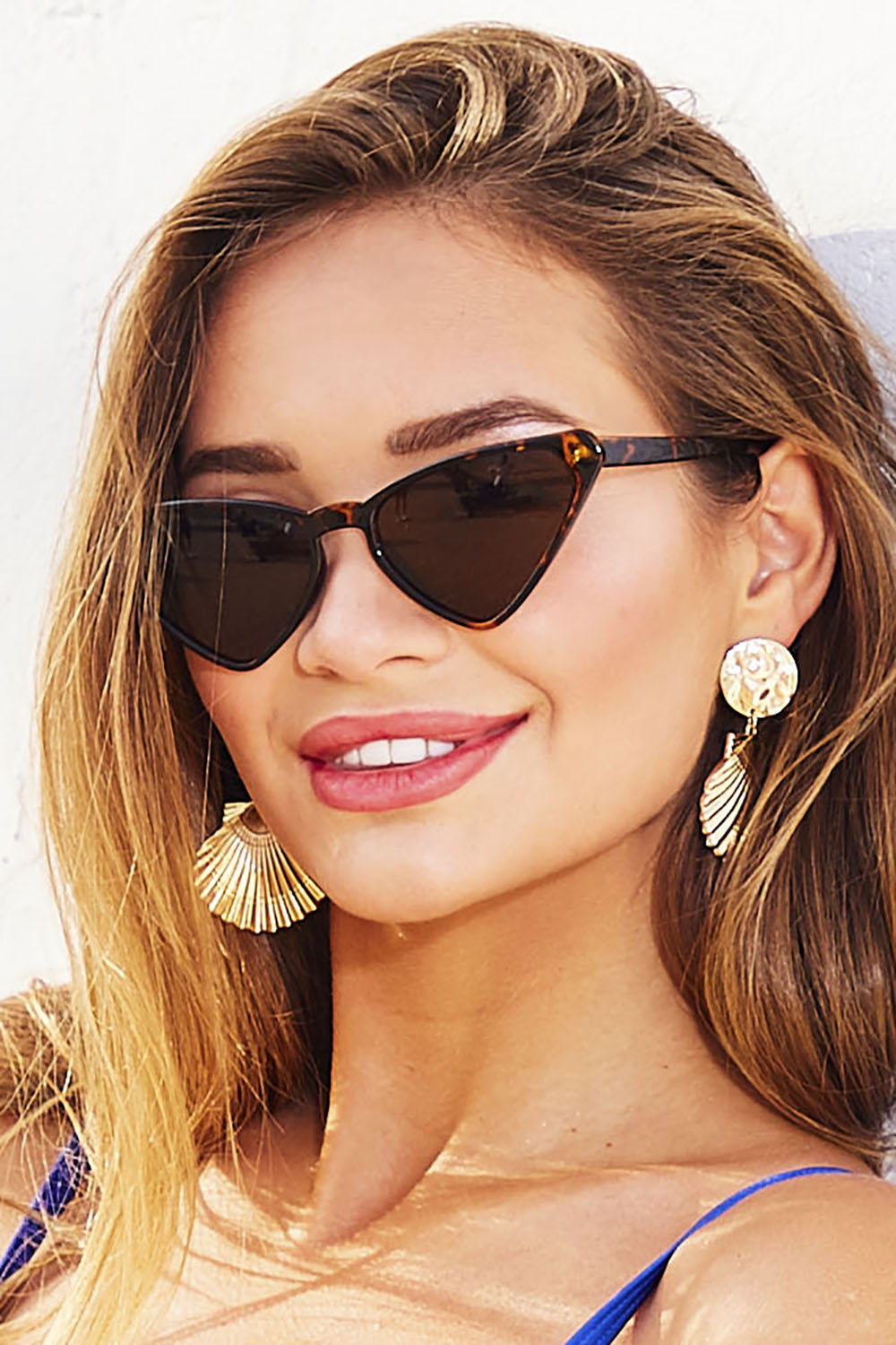 Gold Shell Oversized Earrings
