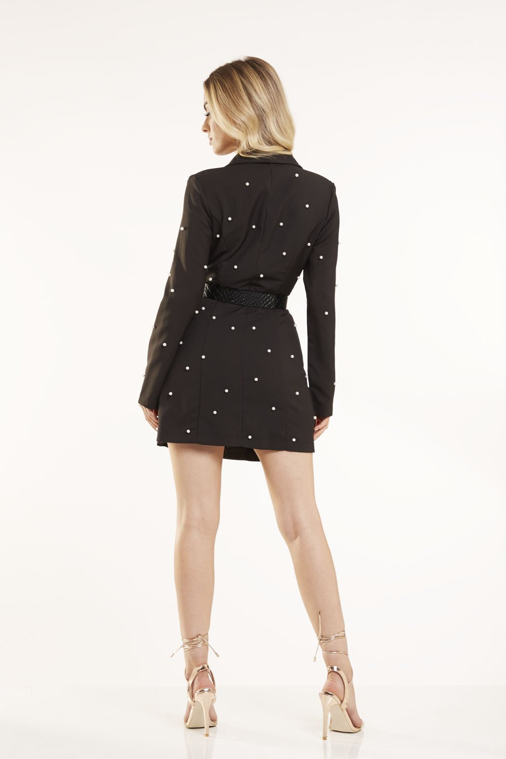 Pearl Embellished Blazer Dress