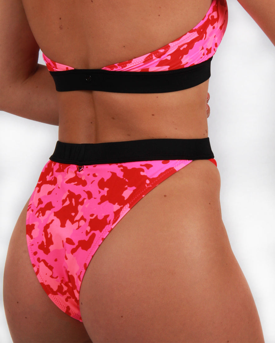Pink Camo High Waist Bikini Brief