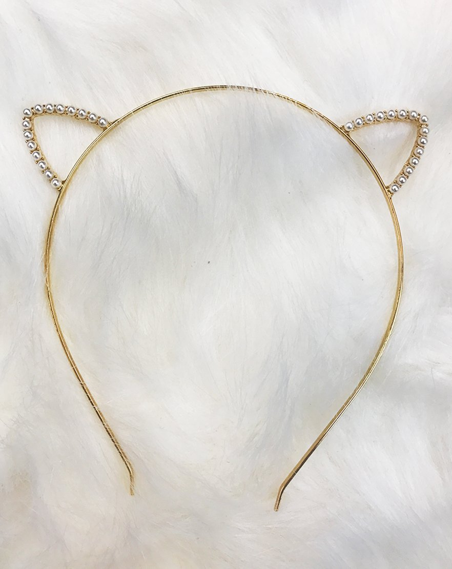 Pearlescent Feline Ear Headband