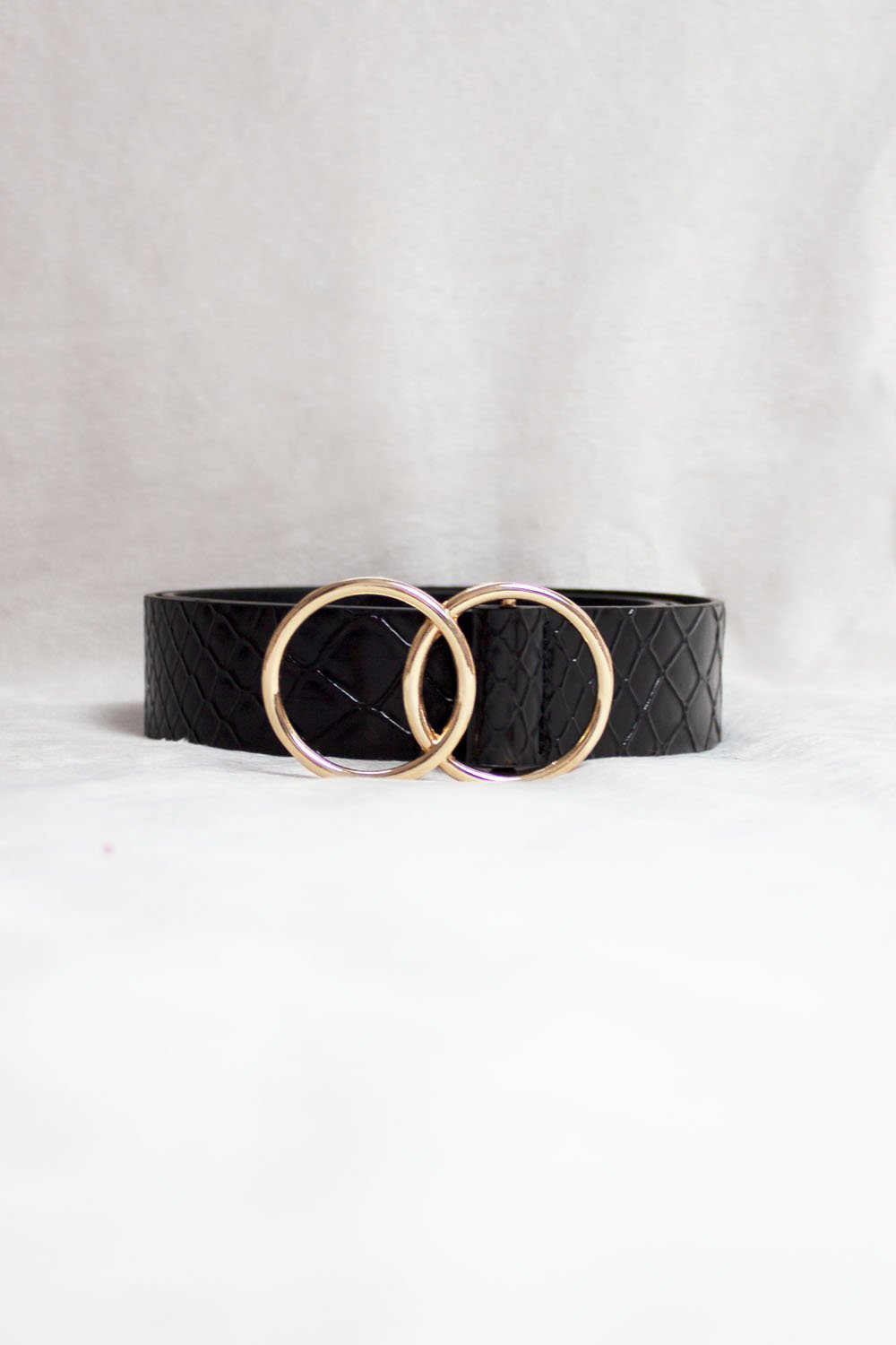 GOLD DOUBLE CIRCLE CROC  BELT