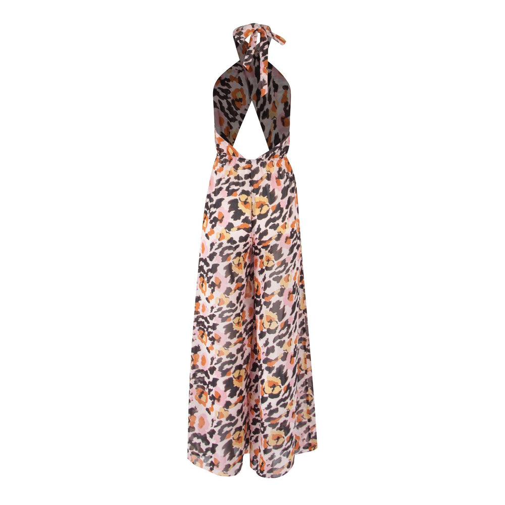 Meet Me At The Halter - Printed Jumpsuit