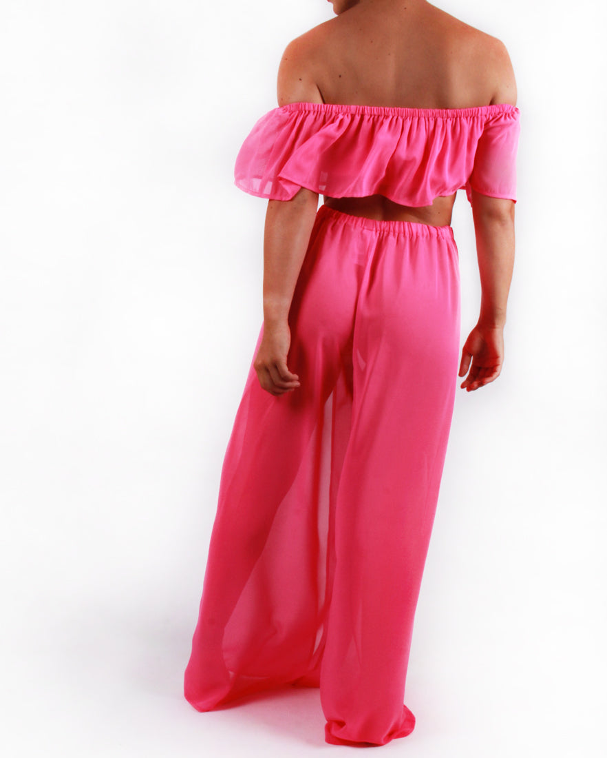 Pink Ruffle Trouser Co-ord