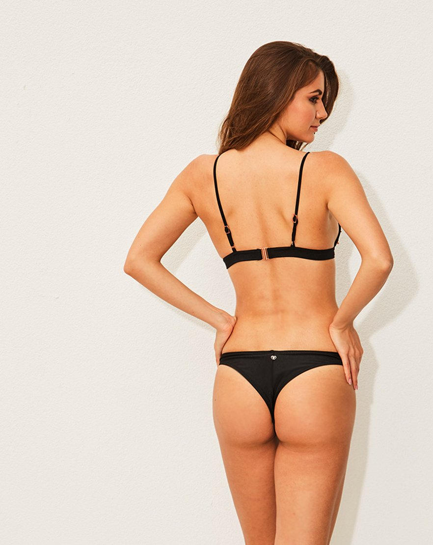 Black Triangle Bikini with Studs
