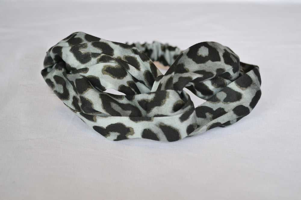 Leopard Print Twist Stretch Hairband