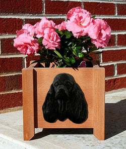 American Cocker Spaniel Planter Box