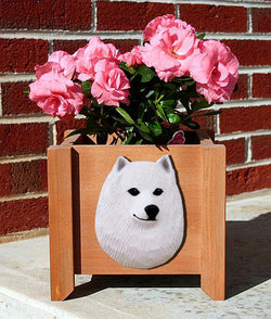 American Eskimo Dog Planter Box