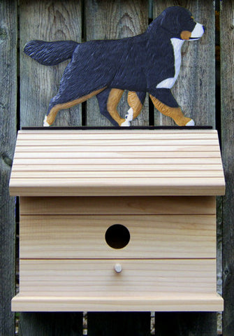 Bernese Mt. Dog Bird House