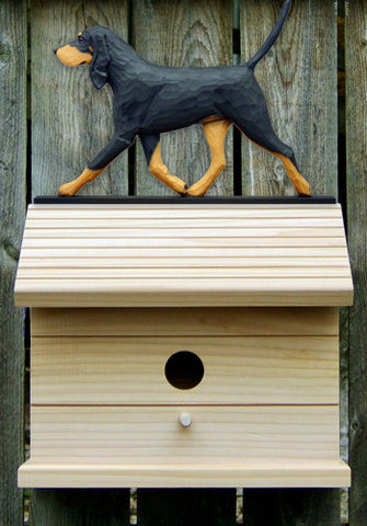 Black  & Tan Coonhound Bird House