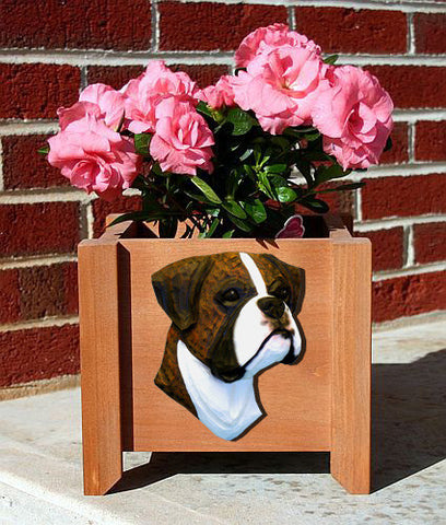 Boxer Dog (Natural) Planter Box