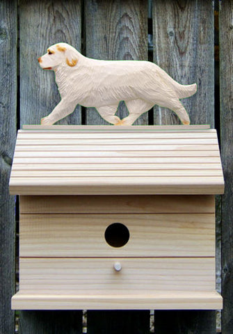 Clumber Spaniel Bird House