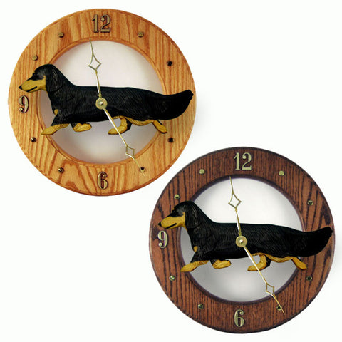 Dachshund (Long-haired) Wall Clock