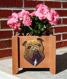 English Bulldog Planter Box