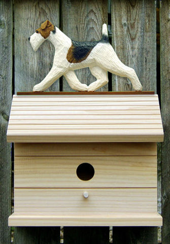 Fox Terrier (Wire) Bird House