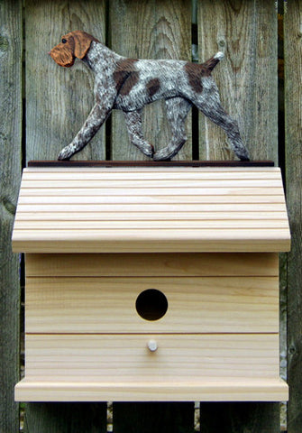 German Wirehaired Pointer Bird House