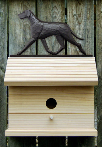 Great Dane (Natural) Bird House