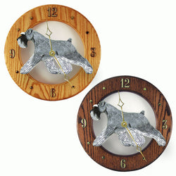 Schnauzer (Natural) Wall Clock