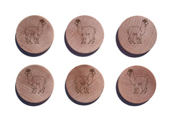 Alpaca Maple Magnet Set of 6
