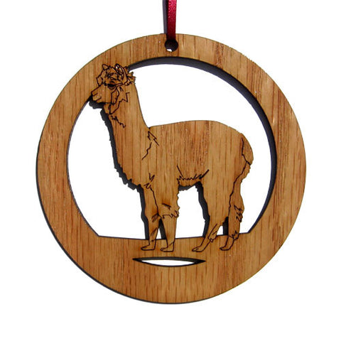 4 inch Alpaca Laser-etched Ornament