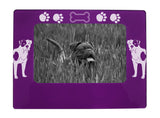 "Purple American Bulldog 4"" x 6"" Magnetic Photo Frame (Horizontal/Landscape)"